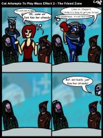 Cat Attempts to Play Mass Effect 2 - The Friend Zo by GohokeKitty