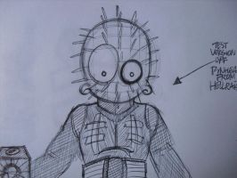 MsGothje as Pinhead WIP by MsGothje