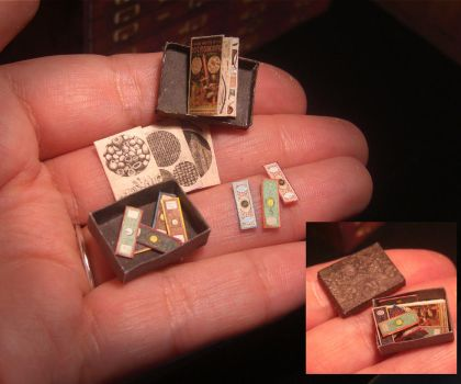 Miniature Victorian Microscope slides 03 by AnnaBellLeeArt