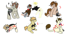 Cybie x Scotch Auction Adopts [2/3 OPEN] by UlvenFeir
