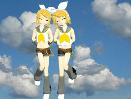 MMD Comparing Rins by midnighthinata