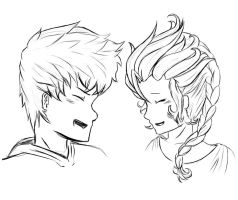 Jelsa Free 2 Use Lineart by Kaabi96