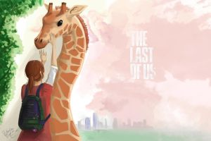 The Last Of Us - Ellie and giraffe by SP-hera