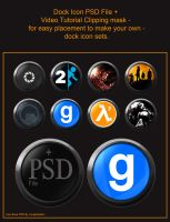 Preview Dock Icons PSD by NoobGamer75