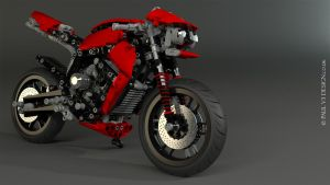 Lego Bike 8051 Model - WIP by PaulV3Design