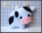 Cow Plushie by littlepaperforest