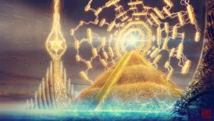 Golden Pyramid and the Eternity Gate by Julian-Faylona
