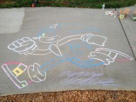 4th of July 2015 - Chalk Sonic by Xaolin26