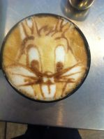 Bugs Bunny Latte by Coffee-Katie