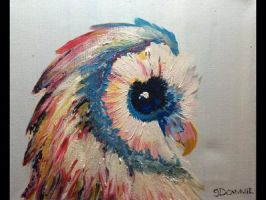 Little owl of many colours by NewHorizonsArt