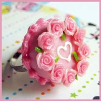 Rose Cake Ring by cherryboop