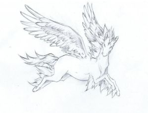 Pegasus with angel wings