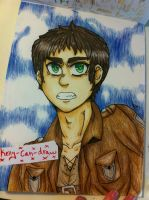 Eren Drawing! by ScarPelt2
