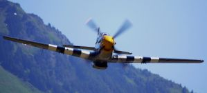 P-51B Flyby Concrete by shelbs2