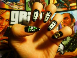 GTA V Nails. by KashaKiller