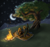 Under the Stars is a Good Time for Stories by Aelwen