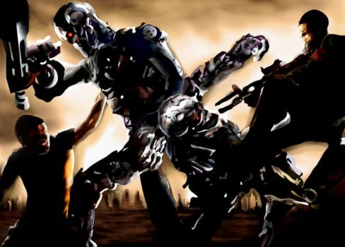 Terminator Battle by dcproductions25
