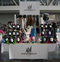 My Anthrocon Table by MissRaptor