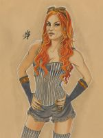 Becky Lynch speed drawing by Aemarielle