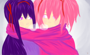 MadoHomu Scarves by pokemoneg
