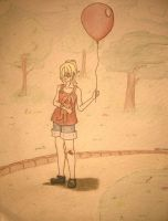 Shy Little Girl -sepia- by Neir-Chan