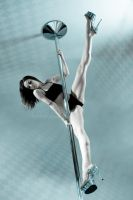 Pole Art - Aqua by h-e-photography