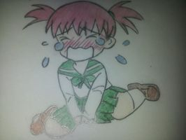 Tribute to Mark Crilley : Chibi crying by Mimisana98