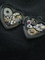 locket - small metal heart by Galasdian