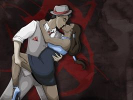Makorra Week 2012 ~ Day 2: Noir (V.1) by GrapeIcies