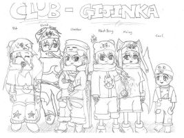 Club-Gijinka Mini Group Pic by stormcannon1