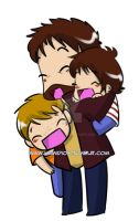 John And his kids by KamiDiox