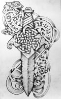 Celtic Beast and dagger 2 by Tattoo-Design