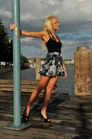 Kristy on a wet wharf 1 by wildplaces