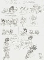DBZ and Sonic by the-overfiend