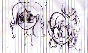 mary and angi's floating disembodied heads :3 by TheIcedWolf