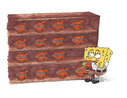 Spongebob's Trophy Collection by cowheaddanny