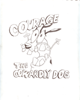 Courage the Cowardly Dog by jtcartoon92