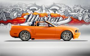 Convertible Mustang by lovelife81