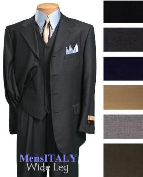 Exclusive Three Button Three Piece Vested Mens Sui by mensusasuits