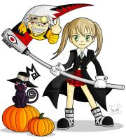 Soul and Maka by ZombieGirl01