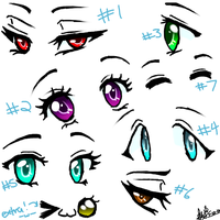HAVE SOME ANIME EYES! :D by BluIceyy
