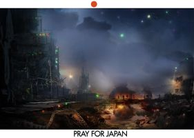 Pray for Japan by flockenpracht