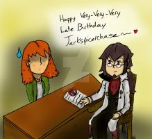 Happy Very, Very, Very Late B-day Jackspicerchase~ by descolefan1