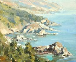 California Coast - Barbara Coleman by OilPaintersofAmerica