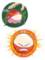 100 - Voltorb and 101 Electrode by steven-andrew