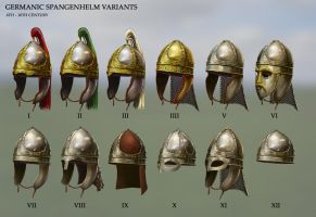 Germanic Spangenhelm Variations by RobbieMcSweeney