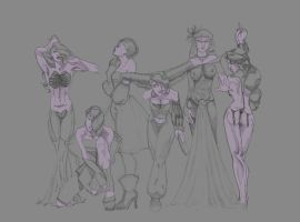 W.I.P. Dark Disney Princesses by UDeeN