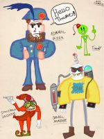 Admiral pizza 2 characters by Washyourhandsman
