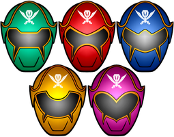 Power Rangers Super MegaForce Masks by KalEl7