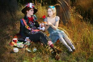 Alice and Mad Hatter II by MigraineSky